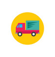 car truck - concept colored icon in flat graphic vector image