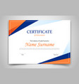 certificate template banner with polygonal vector image vector image