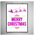 christmas card with purple typographic vector image vector image
