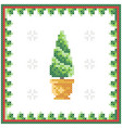 christmas tree pattern scheme for needlework vector image vector image