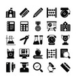 education solid icons 1 vector image vector image