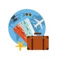 enjoy the vacations holidays vector image