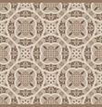 floor tiles ornament brown pattern print vector image vector image