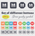 floppy icon sign Big set of colorful diverse vector image