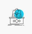game boss legend master ceo line icon vector image vector image