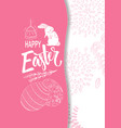 handdrown easter background with eggs chicken vector image vector image