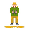 Happy Birdwatcher Isolated Icon vector image vector image