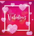 happy valentines day with heart and vector image vector image