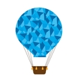 hot balloon basket blue abstract icon vector image vector image