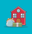 house and money related icons vector image vector image