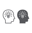 human idea line and glyph icon creativity and vector image
