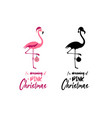 i am dreaming a pink christmas - hand written vector image vector image