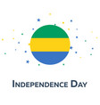 independence day of gabon patriotic banner vector image