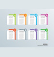 infographics tab paper index with 8 data template vector image