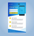 Landing page for mobile application promotion vector image vector image