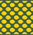 lemon whole fruit seamless art on green pattern vector image vector image