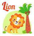 LionLetter vector image vector image