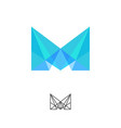 m monogram crystal modular logo vector image