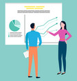man and woman discussing business problems cartoon vector image vector image