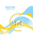 Minimal wavy bright background vector image