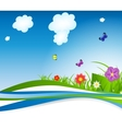natural floral background vector image vector image