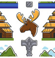 norway symbols building animal landscape and vector image vector image