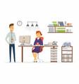 office consultation - modern cartoon vector image vector image