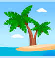 palm trees on uninhabited island sea or ocean vector image vector image