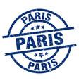 paris blue round grunge stamp vector image vector image