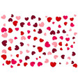 pink and red rose petals vector image vector image