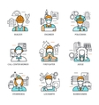 Professions Avatars Line Concept vector image vector image