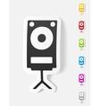 realistic design element large audio speaker vector image