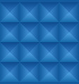 seamless blue ethno pattern with squares vector image vector image