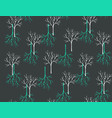 seamless pattern with winter forest art vector image