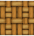 Seamless wicker background vector image