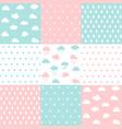 set ba patterns seamless pattern vector image vector image