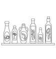 Set of natural oils vector image