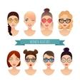 Set of women avatars vector image vector image