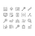 set seo icon template vector image vector image