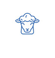 sheep farm line icon concept sheep farm flat vector image vector image