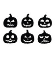 silhouette pumpkin on white background vector image
