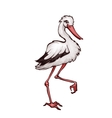 stork in cartoon style vector image