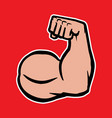 strong bodybuilder biceps flex arm icon vector image vector image