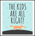 stylish children poster with quote vector image