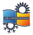 sun and snowflake air conditioning cooling and vector image vector image