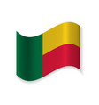 the flag of the republic of benin vector image vector image