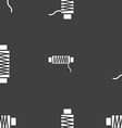 Thread Icon sign Seamless pattern on a gray vector image vector image