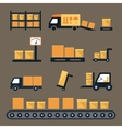 Transportation shipping and delivery icons vector image vector image