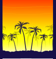 tropical summer print with palm vector image vector image