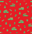 trucks cars christmas gifts and candies pattern vector image vector image
